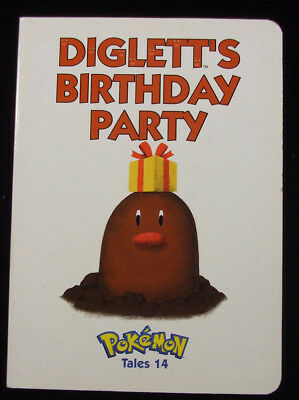 Pokemon Tales # 14 Diglett's Birthday Party Board Book Mint