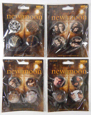 Lot of (4) Different Twilight Saga New Moon Button Pin Packs * 16 pins total