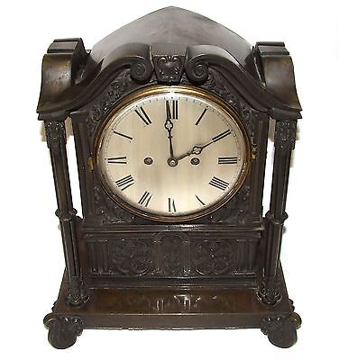 Antique Gothic BRONZE Twin Double Fusee Bracket Mantel Clock CLEANED & SERVICED • £1,500.00