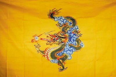 YELLOW DRAGON FLAG FL028 flags dragons banner banners medieval wall hangings NEW