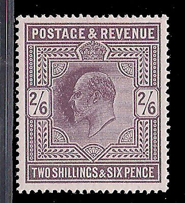 Great Britain Stamp 1902 2s6d Dull Purple Sg 262 MLH £350