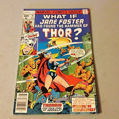 WHAT IF #10 Marvel Comics KEY 1st Jane Foster As Thor Appearance HIGH GRADE