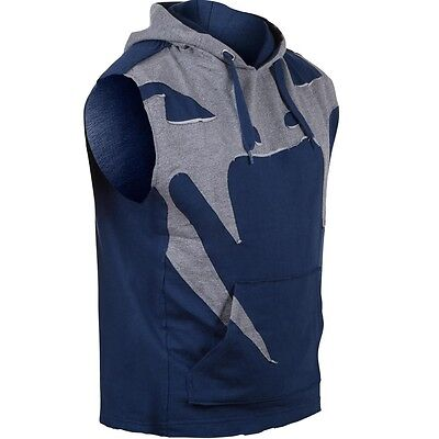 Venum Attack Sleeveless Hoody lite series, 2005 Heather navy blue. S-XXL.