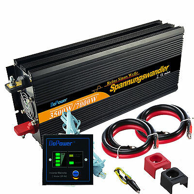 3500W Max 7000W Power Inverter DC 24V AC 220V Pure Sine Wave Converter