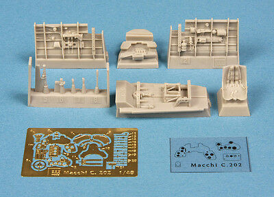 SBS Models 1/48 MACCHI C.202 FOLGORE COCKPIT SET RESIN & PE CONVERSION KIT