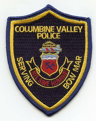 COLUMBINE VALLEY COLORADO CO Serving Bow Mar POLICE PATCH