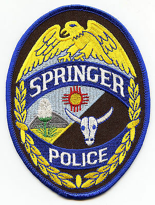 Springer New Mexico Nm Police Patch