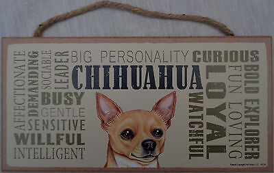 CHIHUAHUA Subway Style  5 X10 hanging Wood Sign made in the USA