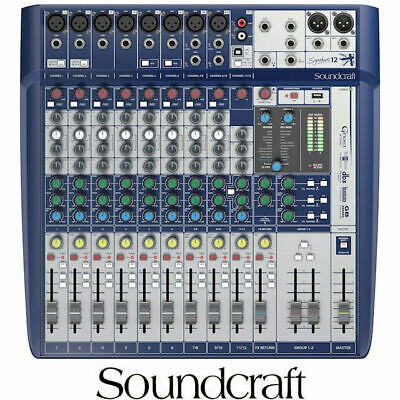 Soundcraft Signature 12 Mixing desk 12 Input with USB and lexicon effects mixer
