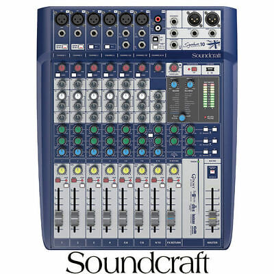 Soundcraft Signature 10 Mixing desk 10 Input with USB and lexicon effects mixer