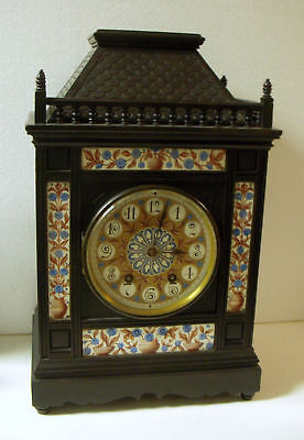 ANTIQUE G V FRENCH 8 DAY 1/4 hr. CHIME CABINET CLOCK BEAUTIFUL WORKING CONDITION