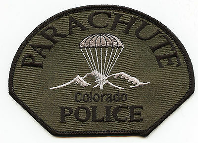 PARACHUTE COLORADO CO subdued POLICE PATCH