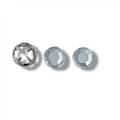 Impex Clip On Crystal Rhinestones - per pack of 10 (24015)