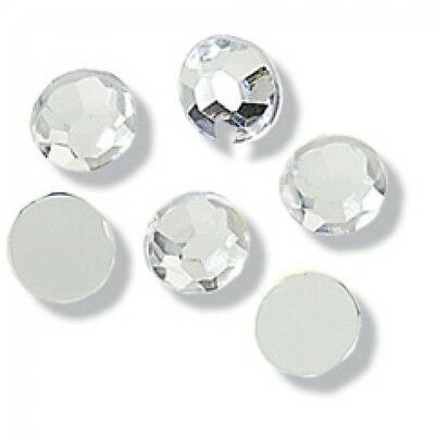 Impex Round Crystal Diamante Jewels  Silver - per pack of 10 (CB140X)