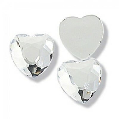 Impex Heart Crystal Diamante Jewels  Silver - per pack of 6 (CB145X)