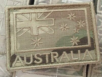 Flag Patch Australian Army Multicam Coloured Subdued New