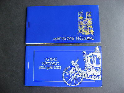 ST VINCENT 1986 royal wedding regular and imperf! booklets, check them out!