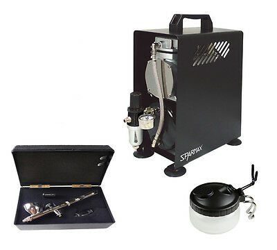 Premium Airbrushing Kit With Badger 105 Patriot & Sparmax 610H Compressor