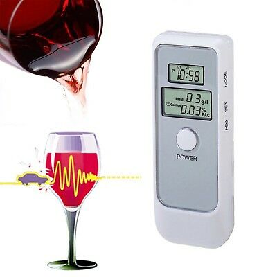 Advanced Dual Digital LCD Blood Alcohol Content Tester Breathalyzer BAC Detector