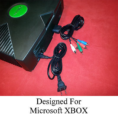 HD Component A/V Cable + AC Power Cord for the XBOX Original (AV Audio Video)