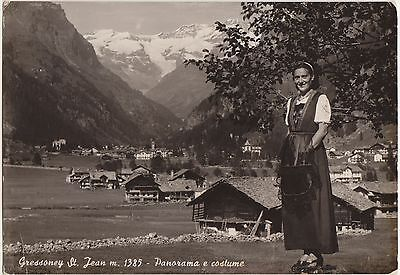 Gressoney St.jean - Panorama E Costume (Aosta) 1955