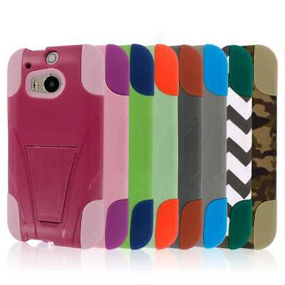 Tough Hybrid Kickstand Case Cover Protector for The All New HTC One M8