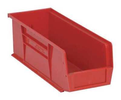 Hang/Stack Bin,14-3/4L x 5-1/2W,Red QUANTUM STORAGE SYSTEMS QUS234RD