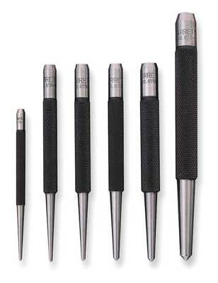 STARRETT S117PC Center Punch Set,5 Pc