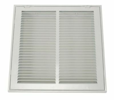 4MJT4 Return Air Filter Grille, 14x25 In, White