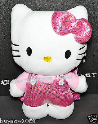 "Hello Kitty Plush Doll Backpack 15"" Girls Toy Nwt Pink Christmas Gift Stuffed"