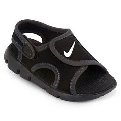 Boy's Toddler NIKE SUNRAY Black/White Athletic Casual Sandals Shoes NEW