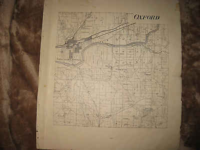 Newcomerstown Ohio Map.Antique 1908 Oxford Lawrence Township Newcomerstown Tuscarawas