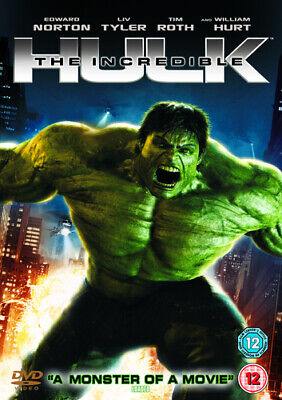 The Incredible Hulk DVD (2008) Edward Norton, Leterrier (DIR) cert 12