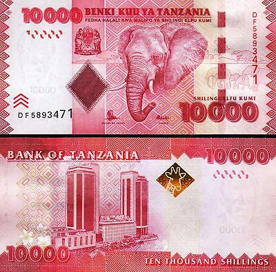 Tanzania 10000 10,000 Shillings Nd 2011 Uncirculated  P 44