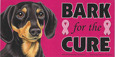 Shih Tzu BARK for the CURE Pink Ribbons Breast Cancer car MAGNET 4X8 MADE IN USA