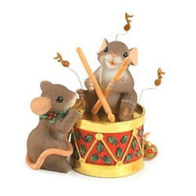 Charming Tails Holiday Figurine*87/170*ENJOY THE HOLIDAY BEAT*NEW IN BOX*25% OFF