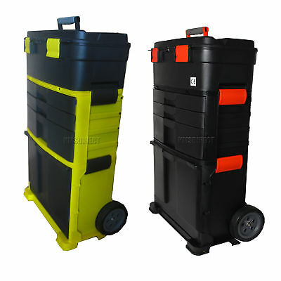 FoxHunter Mobile Roller Work Shop Chest Trolley Storage Tool Box Cart Plastic