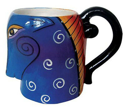 New LAUREL BURCH Mug Cup AQUATIC MARE Pony Horse Figure COFFEE TEA 16 Oz BLUE
