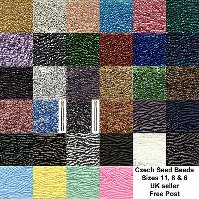 Czech Preciosa Glass Seed Beads * Full Hanks * Choose Colour & Size * Free Post