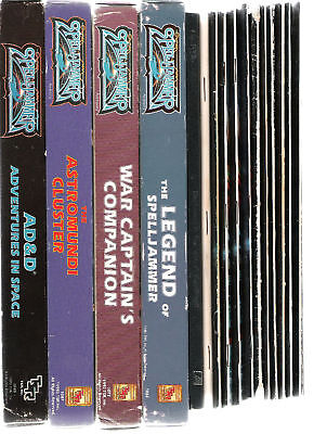 Tsr Ad& Spelljammer Campaign All Boxed Sets & Books Vgc