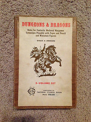 Tsr Original Dungeons & Dragons Od&d Boxed Sets Book Woodgrain Gygax Arneson Vgc