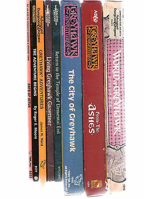 Tsr Ad&d Greyhawk 1E Books Boxed Sets Adventures Wg Wgr Vgc Multilisting Gygax
