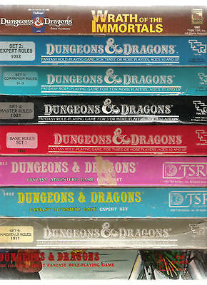 Tsr D&d Dungeons & Dragons Boxed Sets Basic Expert Master Companion Immortal +++