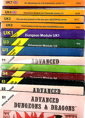 Tsr Advanced Dungeons & Dragons Ad&d S T U Uk Vgc Rpg Ad&d Role Playing Games