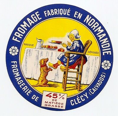 Calvados  Étiquette Fromage Normandie Clecy