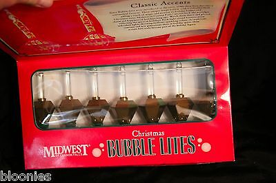 Midwest of Cannon Falls CHRISTMAS BUBBLE LITES (Clear) Lights NEW