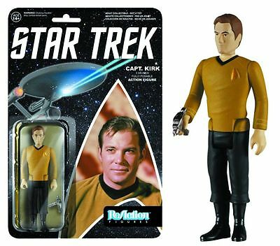 REACTION STAR TREK TOS CAPTAIN KIRK FIGURE NEW LOOSE ON CARD #snov15-656
