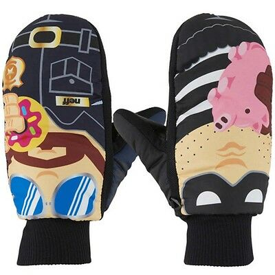 New Neff Youth Character Undermitt Snowboard Mitts L/XL Cops N Robbers