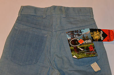 UNUSED BOY'S 1960s BRUSHED DENIM BLUE JEANS! GRIPPER ZIPPER! WITH TAGS! 27x31