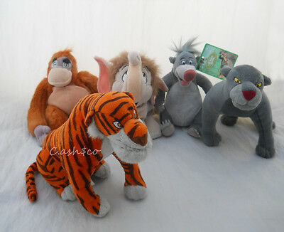 Disney Jungle Book Set of 5 plush bean bags Bagheera Shere Khan King Louie Baby